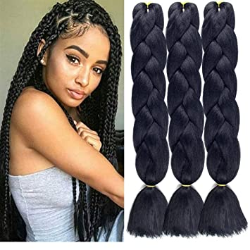 Women Heat Resistant Fiber Ombre Jambo Braids Girl Hair Extension African 24inch Synthetic Braiding Hair Lady Gradient Dreadlock Hair Extensions & Wigs