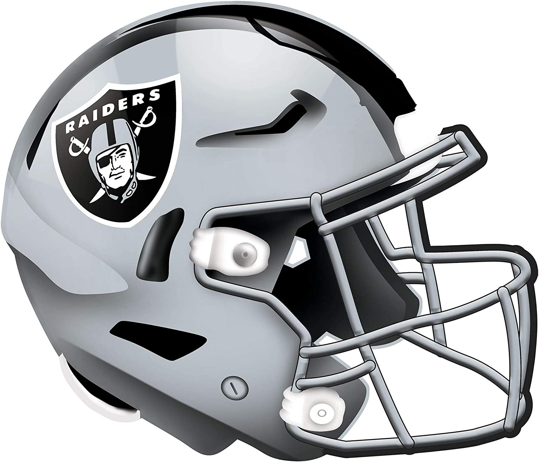 Fan Creations NFL Las Vegas Raiders Unisex Oakland Raiders Authentic Helmet, Team Color, 12 inch