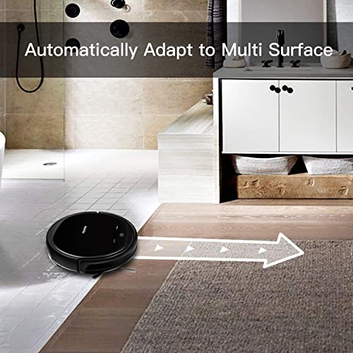 Robotic Vacuum Cleaner Strong Suction for Carpets and Hard Floors, 1400pa Vacuum Robot Cleaner with Long Life Battery, High Capacity Water Tank for Wet Dry Mopping, Smart Schedule Cleaning Self Charge