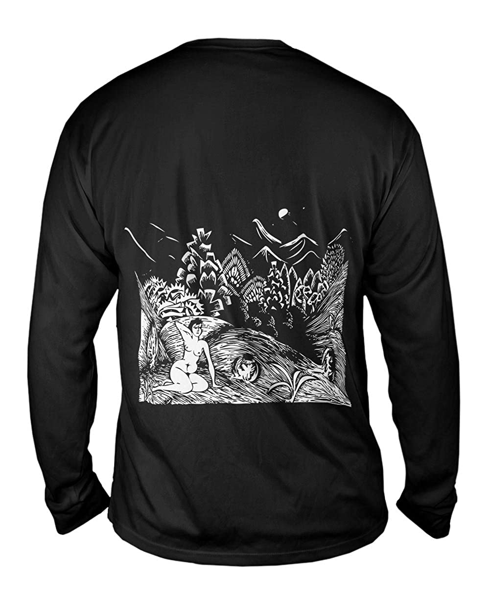 M.C.Escher Mens Long Sleeve 2009 Female Nude in a Lands Yizzam
