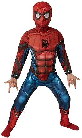 Spiderman - Disfraz infantil Deluxe, M (Rubie's Spain 630845-M)