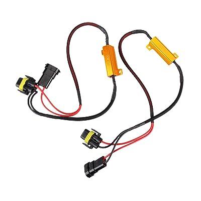 Madlife Garage 2pcs 50W 6 ohm H11/H8/H9 Led Load Resistor Flicker Decoders Warning Canceler Harness For LED Headlight: Automotive