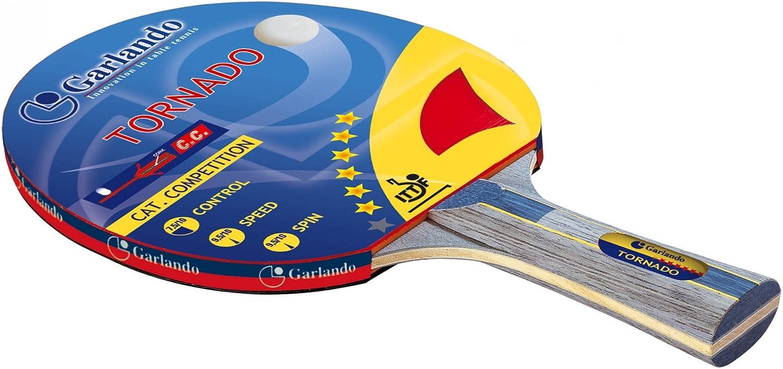 Garlando Pala Ping Pong Tornado (6 Estrellas) Multicolor: Amazon ...