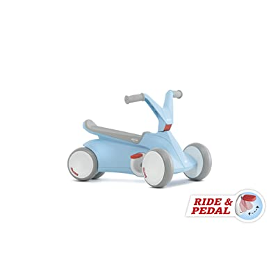 Berg GO² 2in1 Push Car | Ride on with Integrated Folding Pedal System, from Baby Walker to Toddler Ride On Toys, Balance Bike and Pedal Gokart, First Birthday Gift, for Ages 10-30 Months (Blue): Toys & Games [5Bkhe1003254]