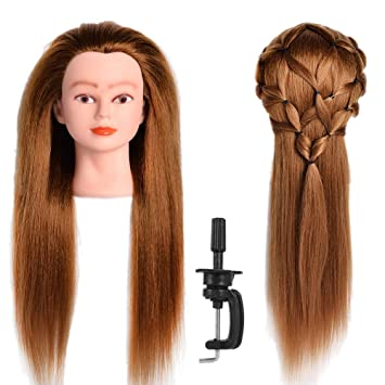 Amazon Com African American Mannequin Head With 50 Real Hair And 50 Synthetic Hair 26 28 Blonde Hair For Hairdresser Practice Training Hairart Barber Hairdressing Fashion Salon Display With Adjustable Stand Beauty