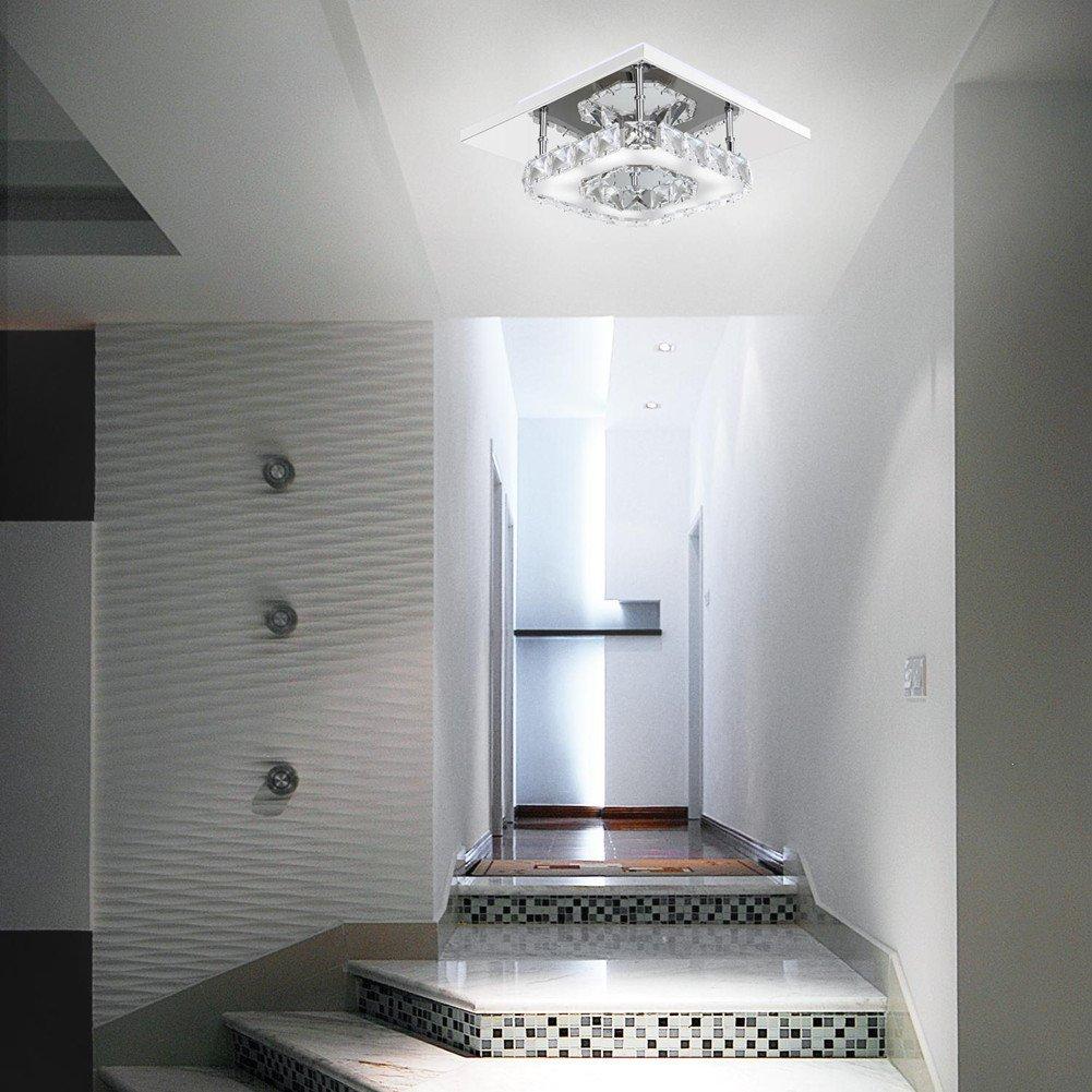Mabor Deckenleuchte Deckenlampe 12W LED Moderne hängende Edelstahl ...