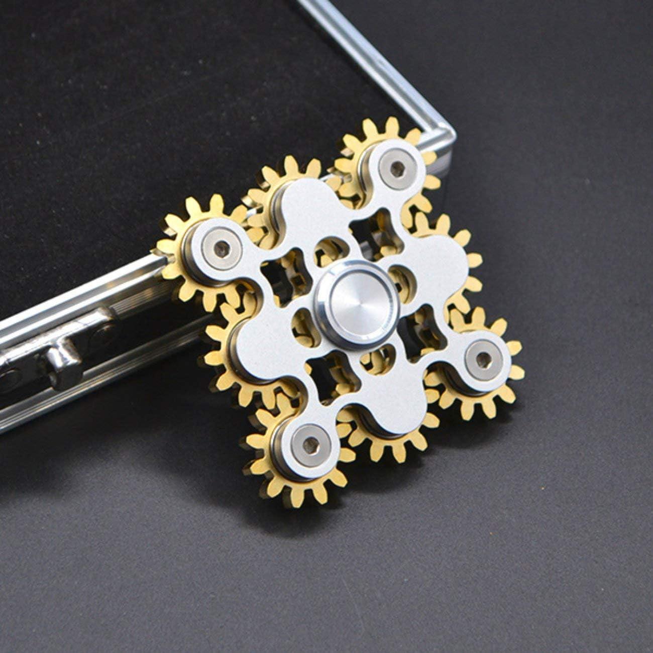 fengzong Hand Spinner Fidget Fun Fingertip Finger Stress Reliever Durable High Speed Silver /& 9 Gear