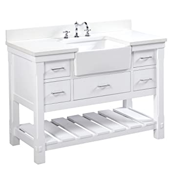 Charlotte 48 inch Bathroom Vanity  Quartz White   Includes a White Quartz. Charlotte 48 inch Bathroom Vanity  Quartz White   Includes a White