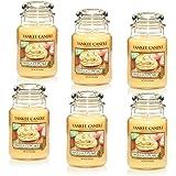 Yankee Candle Company Vanilla Cupcake 22-Ounce Jar Candle, Large, Set of 6
