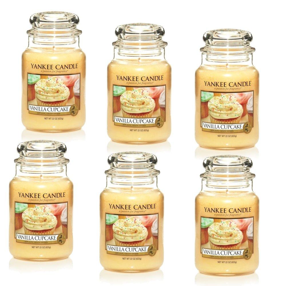 Yankee Candle Vanilla Cupcake Jarre grande Bougie 623,7gram, ivoire, Lot de 6 Yankee Candle Company 1093707X6