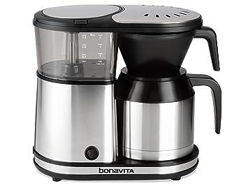 Bonavita BV1500TS 5 Tassen Kaffeemaschine Mit Thermoskanne Edelstahl  (EU Version)