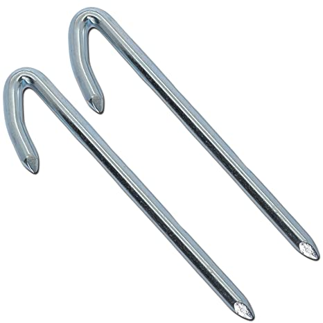 2x Galvanized Drive In Washing Line Hooks | Drive Into Mortar In Brick Walls