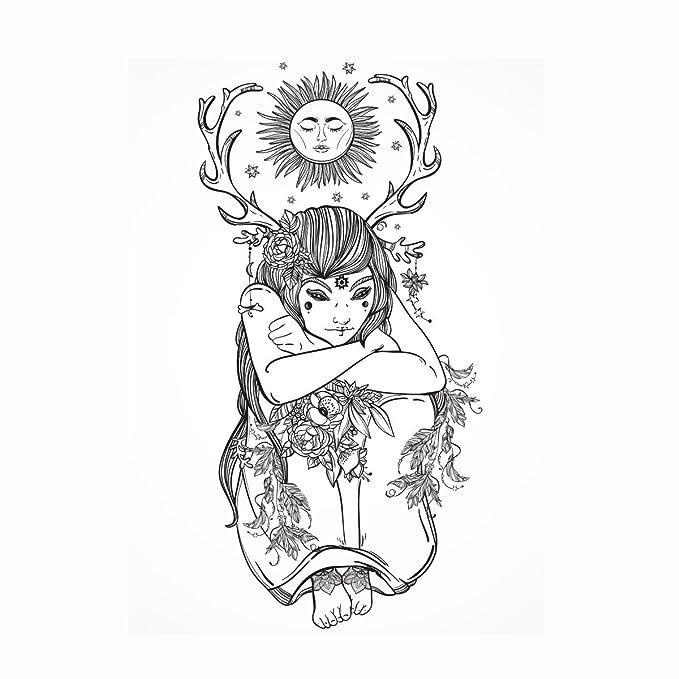 Nature Girl – WOW Druide Elf Elfen Pagan – Detaillierte Erwachsene ...