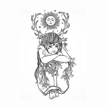 Naturaleza niña - wow druida elfo élfico Pagan - Detallada colorear ...