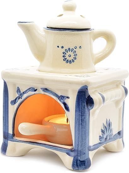 Piquaboo Quemador de cerámica Estilo hornillo para derretir Cera