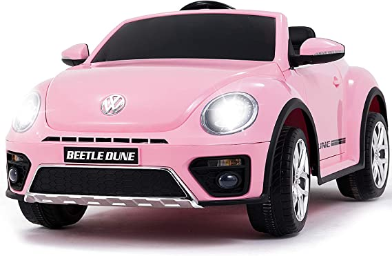 Uenjoy Volkswagen Beetle 12V Kids Electric Ride on Cars Battery Powered Motorized Vehicles