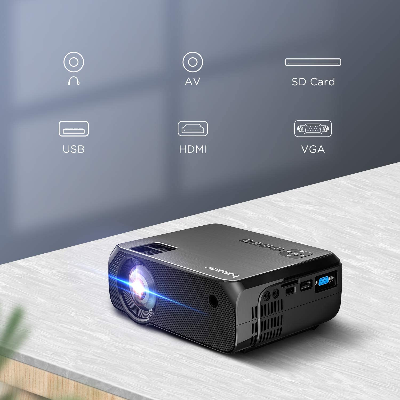 BOMAKER Proyector WiFi, 3900 lúmenes, resolución nativa 1280 x ...