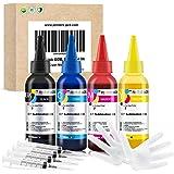 Printers Jack 400ML Sublimation Ink Refill for Epson C88 C88+ WF7710 ET2720 ET4700 ET15000 ET2760 ET2750 WF7820 Inkjet Printe