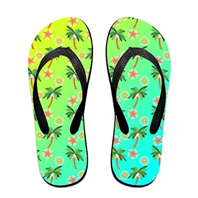 Simple Summer Palm Tree Starfish Unisex Fashion Beach Slipper Indoor And Outdoor Classical Flip Flop Thong Sandals