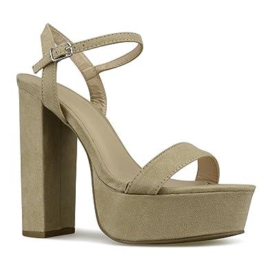 ea6d62da541f Premier Standard - Women's Platform Ankle Strap High Heel - Open Toe Sandal  Pump - Formal