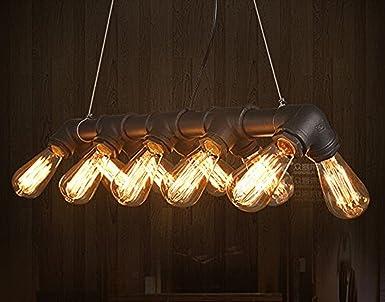 Industrial vintage tubo di acqua lampadario a soffitto luce per
