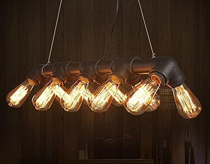 Industrial vintage tubo di acqua lampadario a soffitto luce per bar