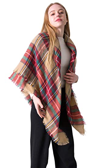 Plaid Oversized Blanket Fall Fashion Scarf Cozy Large Tartan Scarves Warm  Shawl Wraps For Women ( 34b3379e1
