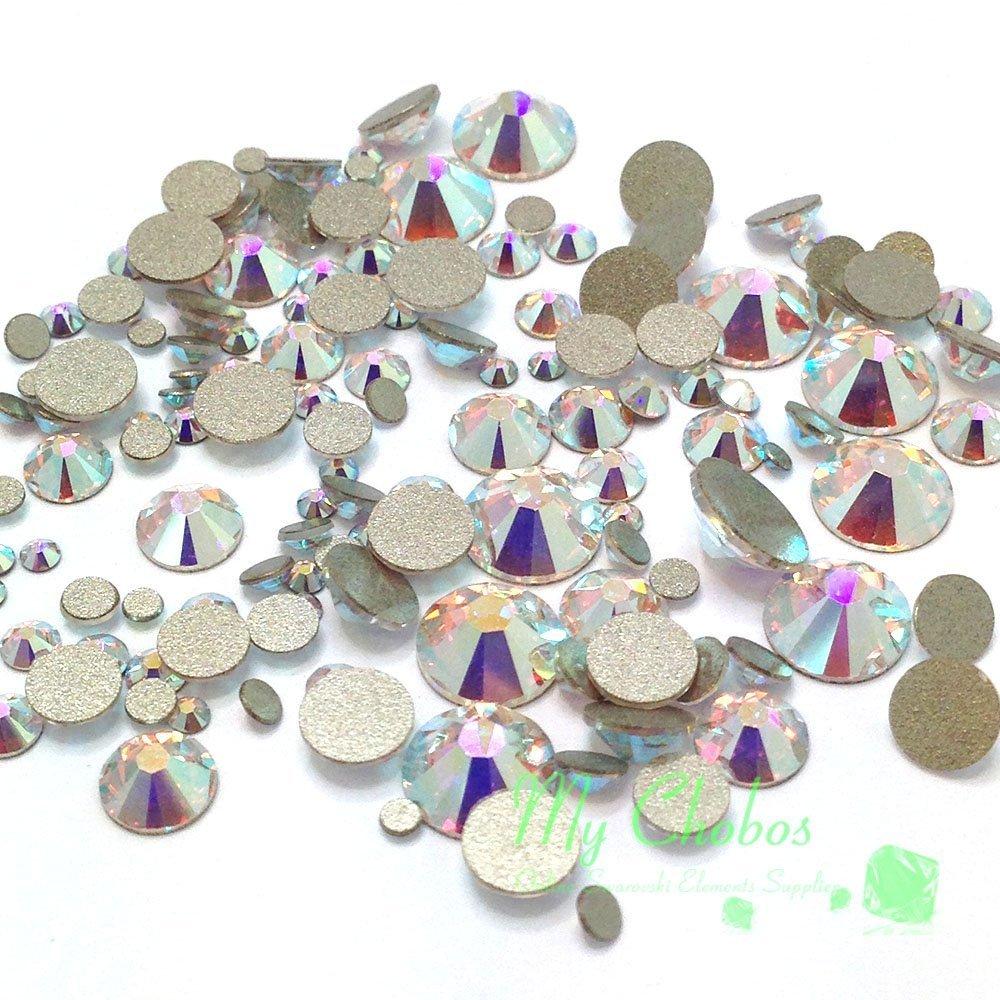Amazon.com: Swarovski 2058/2088 Crystal Nail Art Mixed Flatbacks ...