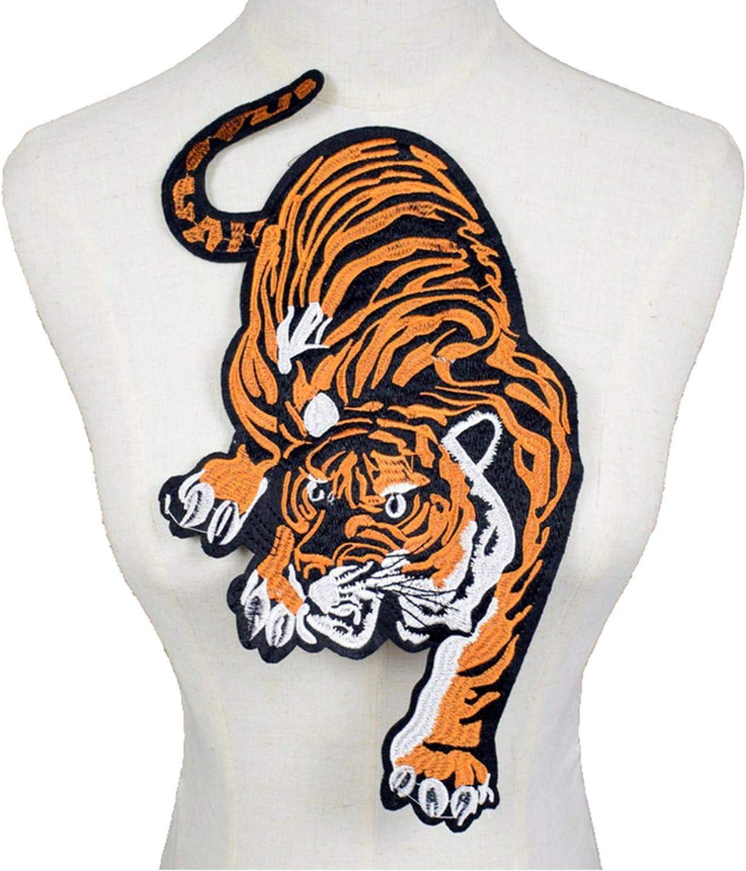 Parche de bordado de tigre para coser en ropa, manualidades ...