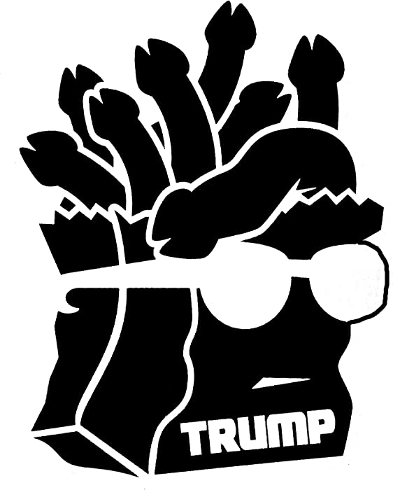 Trump Bag of Dicks Funny Decal Vinyl Sticker|Cars Trucks Vans Walls Laptop| Black |5.5 x 4.3 in|DUC228