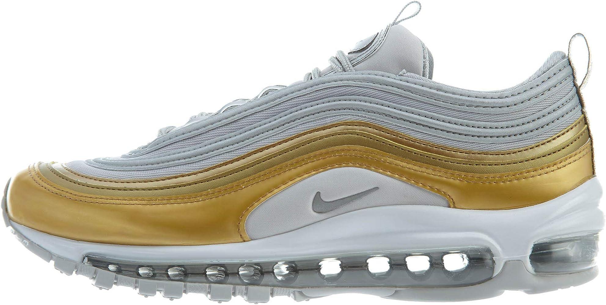 Nike W Air MAX 97 Se, Zapatillas de Entrenamiento para Mujer, Multicolor (Vast Grey/Metallic Silver/Metallic Gold 001), 41 EU: Amazon.es: Zapatos y complementos