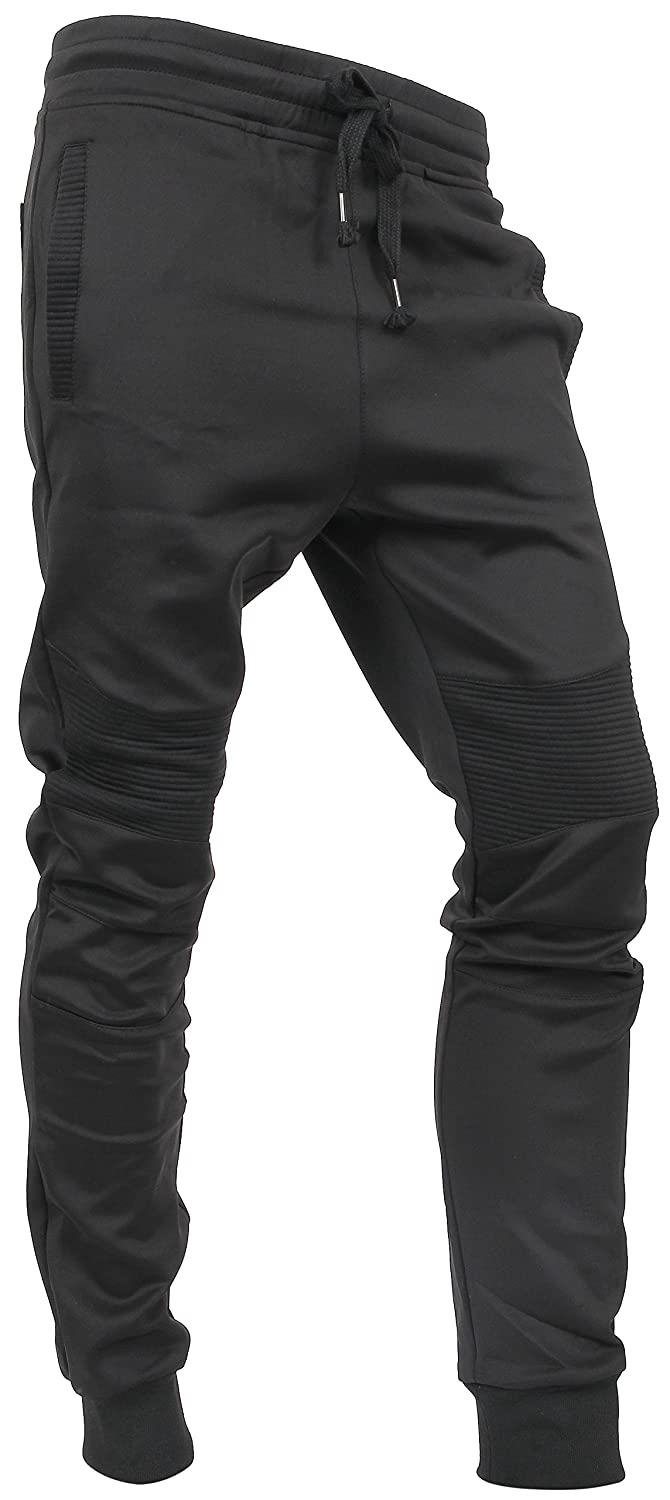 f8643e2998f Hat and Beyond Mens Jogger Pants Biker Slim Fit Casual Fleece Active Elastic  at Amazon Men s Clothing store
