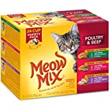 Meow Mix Tender Favorites Wet Cat Food Cups in Sauce