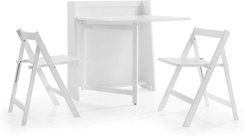 - Julian Bowen Helsinki Compact Dining Set, White: Amazon.co.uk