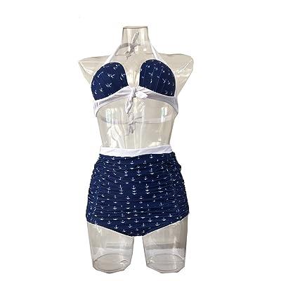 2018 New Digital Printing Split Swimsuits Add Fertilizer to Increase Ladies high Waist Split Bikini Swimsuit