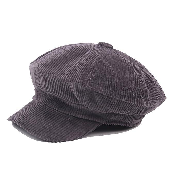 Newsboy Women Men Cap Beret Autumn Winter Hats Octagonal Painter Vintage England Gorras Boina Feminina, Black at Amazon Womens Clothing store: