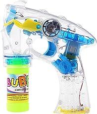 YeahiBaby Pompas de Jabón Pistola de Jabón Eléctricas con Luces Intermitentes y Música para Niños para Fiesta Boda Cumpleaños Amarillo