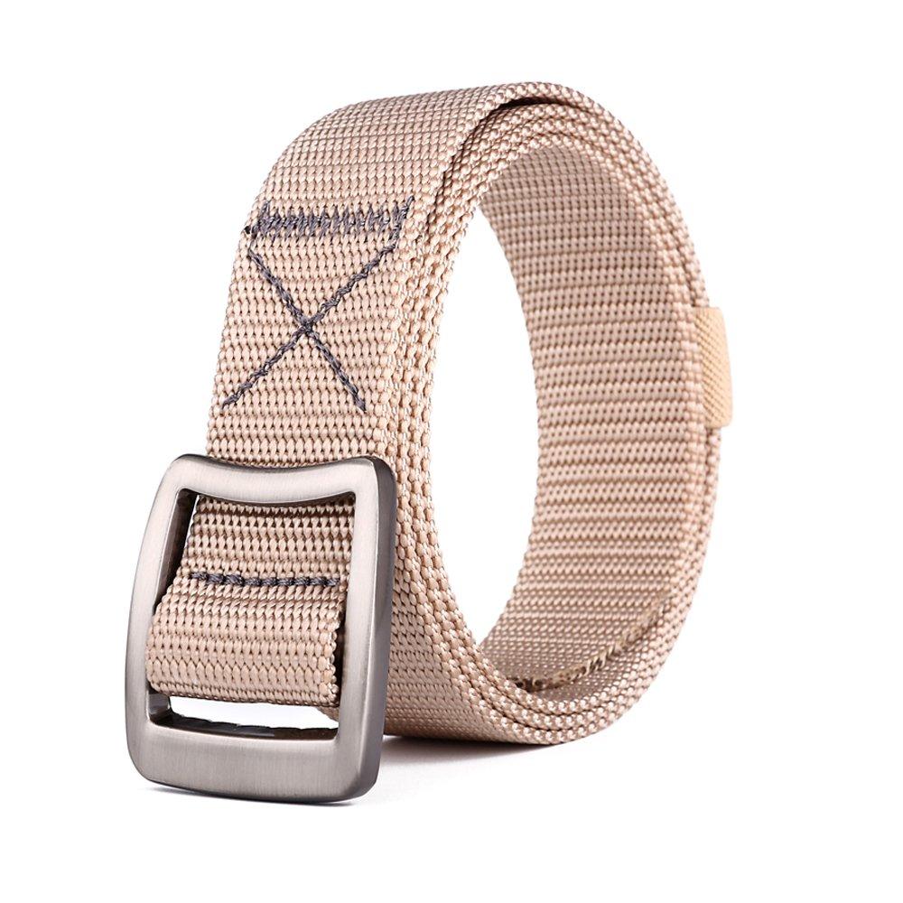 MIJIU Cinturón para mujer Cinturón de lona de nylon Cinturón de los hombres táctico militar respirable con la hebilla del metal