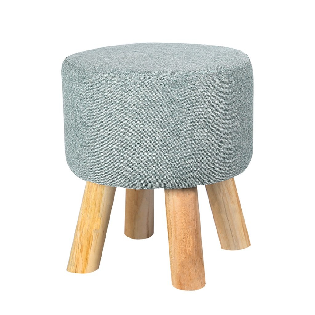 TangMengYun Modern Solid Wood Stool, Removable Wash Cloth Shade, Home Sofa Stool for Shoe Stool Adult Stool -33 36cm (Color : B, Size : 3336CM)