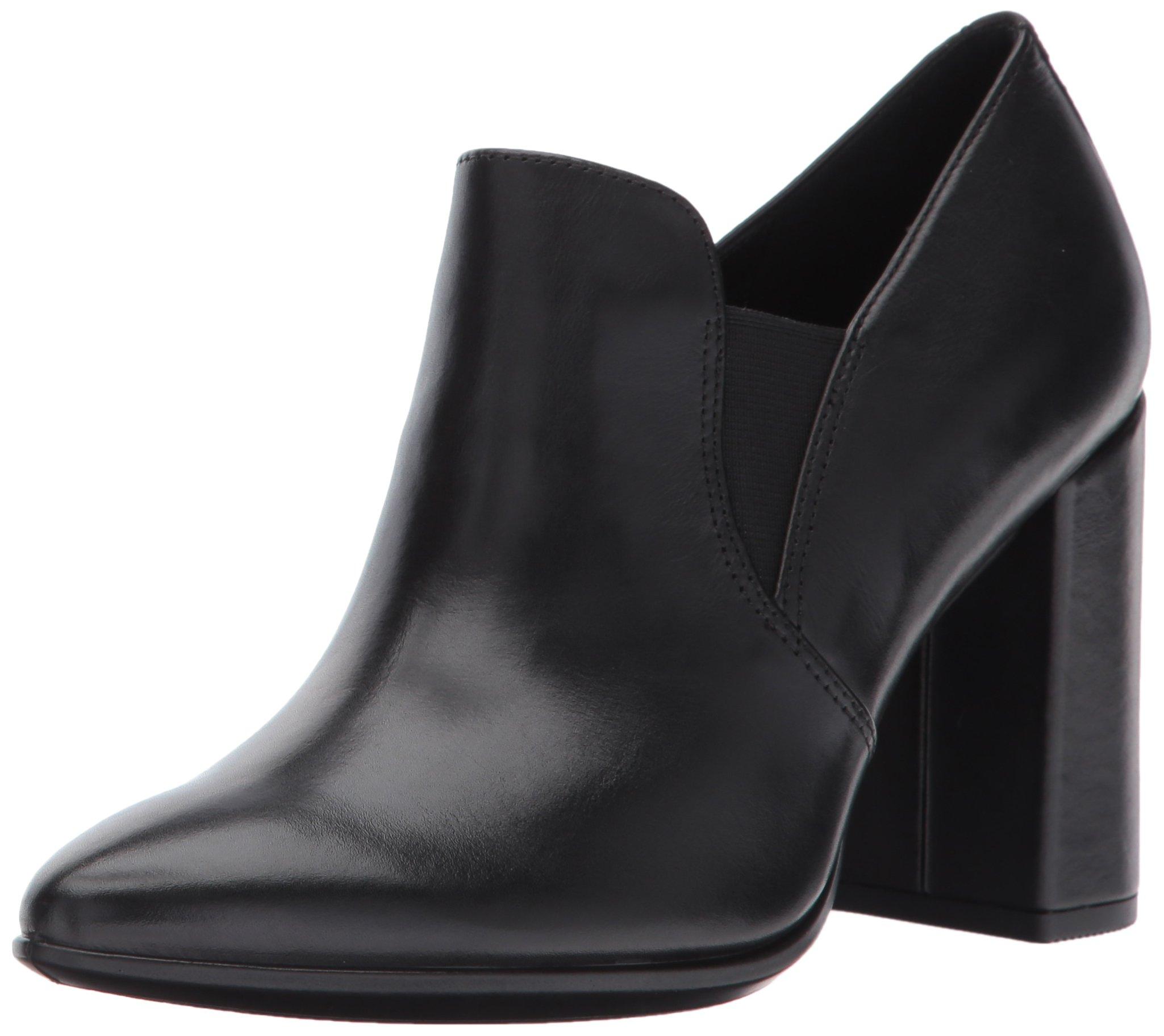 ECCO Women's Women's Shape 75 Pointy Block Slip on Dress Pump, Black, 36 EU / 5-5.5 US