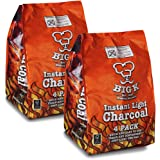 The Chemical Hut 8KG (X8, 1KG bags) of Instant Light The Bag BBQ Charcoal for Stoves BBQs Burner - Comes With Anti-Bacterial Pen!