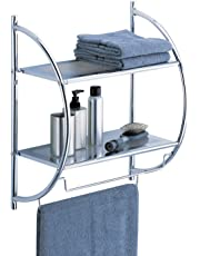 Organize It All 2-Tier Shelf with Towel Bars (1753)