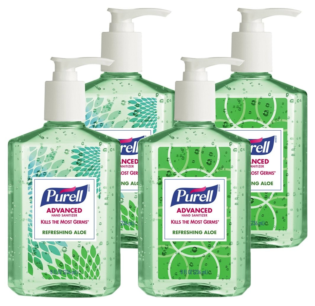 PURELL 967406ECDECO Advanced Instant Hand Sanitizer with Aloe, 8 oz Bottle (Case of 24)