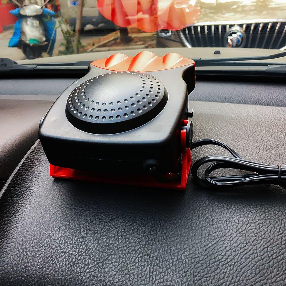 D/égivrage et D/ésembuage Avec Trois Sorties D/égivreur Pare-brise Chauffage 12V 150W Chauffage Voiture Refroidisseur Auto Ventilateur portable de voiture pour Refroidissement