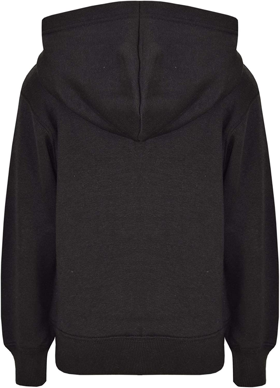 A2Z 4 Kids/® Kids Girls Boys Sweatshirt Tops Designers Casual Plain Black Pullover Sweatshirt Fleece Hooded Jumper Coats New Age 2 3 4 5 6 7 8 9 10 11 12 13 Years