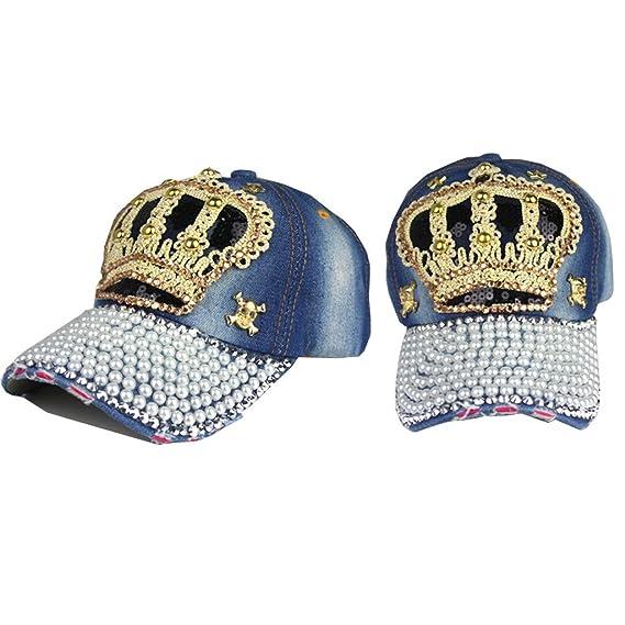 ECYC Brand Rhinestone Studded Diamond hat Cowboy cap Tidal Lady hat Spring Summer style Peaked Casual hat