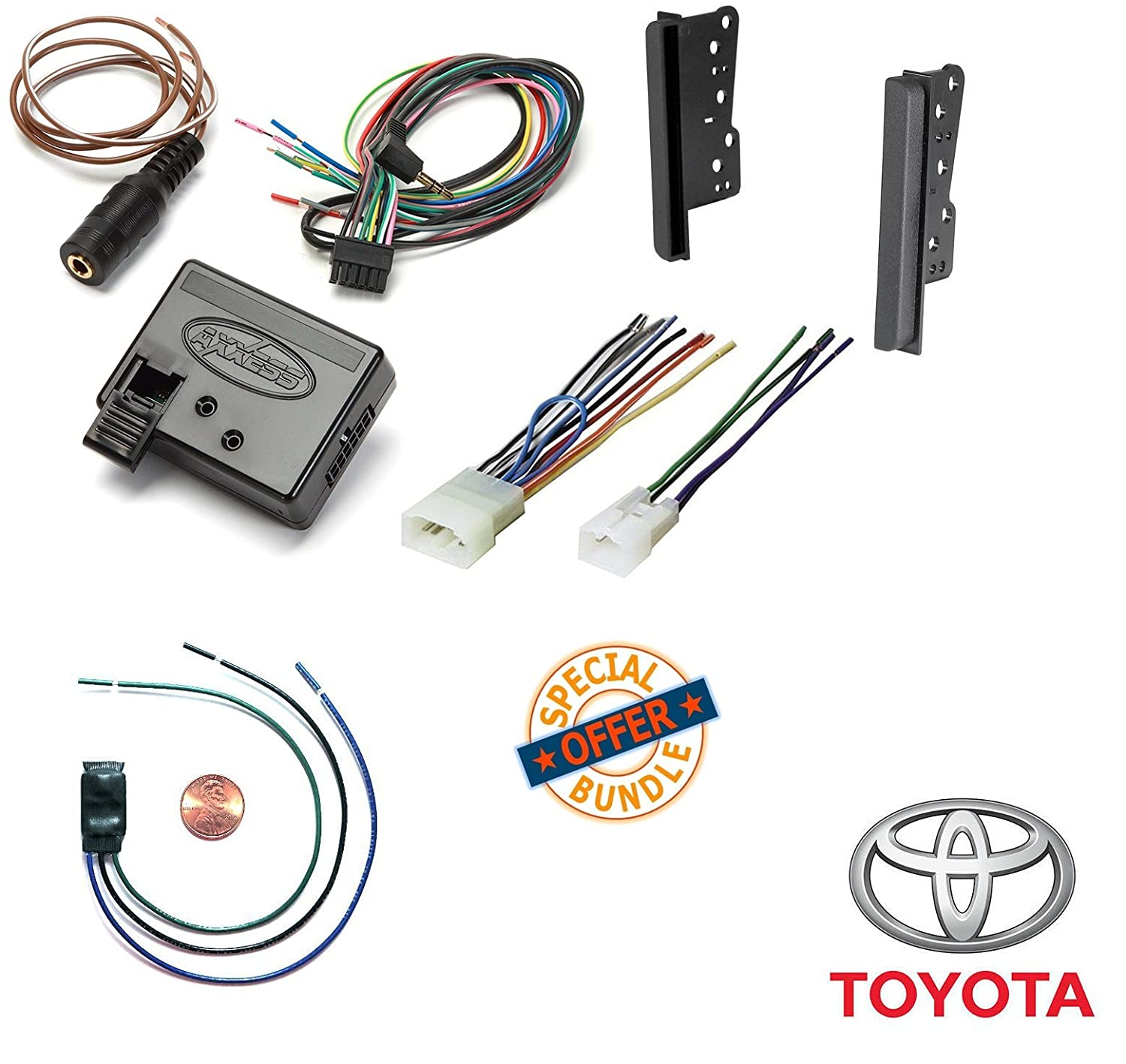 Amazon.com: Double Din Installation Dash Kit for 2001-2011 Toyota ...