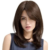 "HAIRCUBE Charming Long Straight Wigs for Women Daily Use Natural and Healthy 20"" Brown"