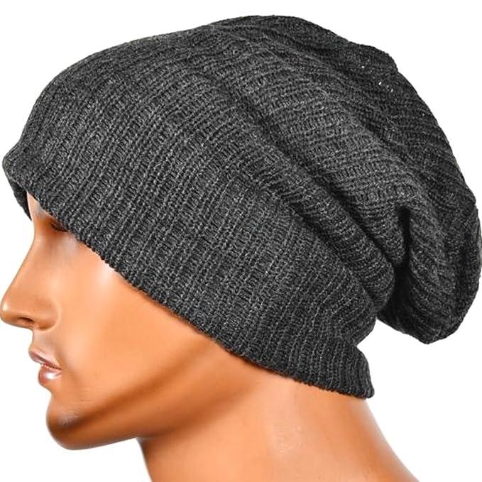 27ebd186 BiiYo Men's Women's Knit Baggy Beanie Oversize Fashion Winter Hat Ski  Slouchy Chic Cap: Amazon.in: Clothing & Accessories