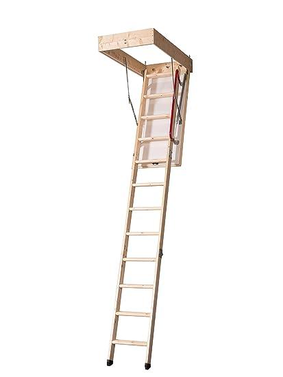 Djm Direct Deluxe Eco 3 Section Timber Folding Wooden Loft Ladder